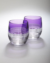 "Waterford Two ""Mixology"" Circon Purple Tumblers"