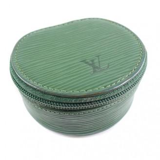 Louis Vuitton Green Leather Purses, wallets & cases