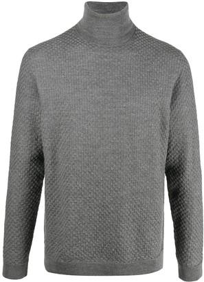 Zanone Textured-Knit Turtleneck Jumper