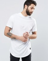 ONLY & SONS Longline T-Shirt With Curved Hem and High Neck