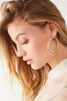 Urban Outfitters Diamond-Cut Doubled Hoop Earring