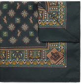 Dolce & Gabbana Printed Silk-twill Pocket Square - Forest green