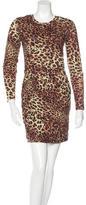 Torn By Ronny Kobo Pleated Leopard-Print Dress