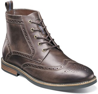Nunn Bush Odell Leather Wingtip Chukka Boot - Wide Width Available