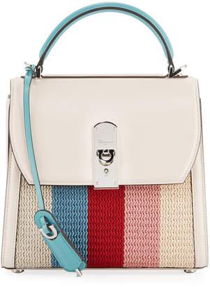 Salvatore Ferragamo Boxyz Knitted Bag