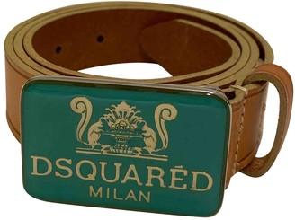 DSQUARED2 Beige Leather Belts