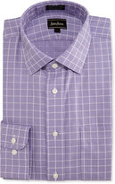Neiman Marcus Classic-Fit Non-Iron Grid Dress Shirt, Purple