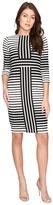 Christin Michaels Ireni Contrast Stripe Bodycon Midi Dress