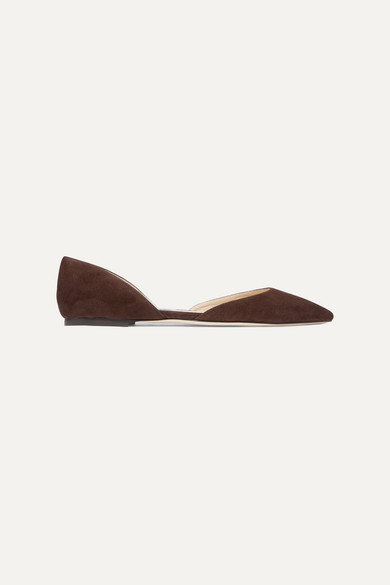 Jimmy Choo Esther Suede Point-toe Flats