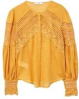 MANGO Openwork detail blouse