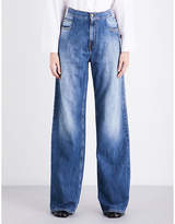 Maison Margiela Relaxed-fit wide high-rise jeans