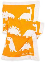 B.ella Tunno Dinosaur Roar Favorite Blanket in Orange