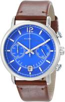 Marc by Marc Jacobs Men's MBM5066 Fergus Stainless Steel Watch with Leather Band