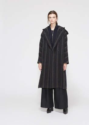 Hope Women's Striped Soul Coat in Dark Grey Size 34 Wool/Polyester/Polyacrylic