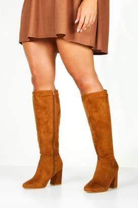 boohoo Extra Wide Fit Knee High Boots