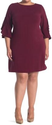 Taylor Ruffle Sleeve Knit Dress