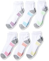 Fruit of the Loom Big Girls' 6 Pack Ankle Socks
