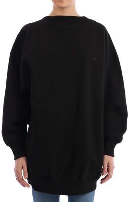 Balenciaga Oversized Logo Scoop Back Sweater