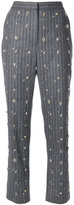 MSGM embellished pinstripe suit trousers