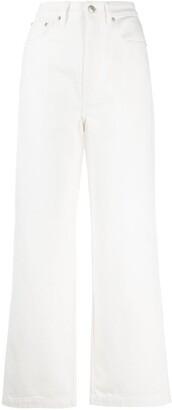 Nanushka Jane high-rise wide-leg jeans