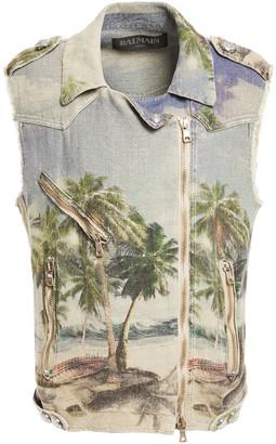 Balmain Printed Linen Vest
