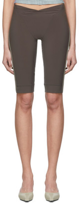 Charlotte Knowles SSENSE Exclusive Grey Lily Shorts