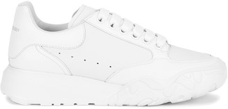 Alexander McQueen Oversized Court White Leather Sneakers