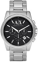 Armani Exchange 3 Hand Stainless Steel Chronograph Watch