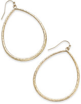 Thalia Sodi Gold-Tone Hammered Gypsy Hoop Earrings, Only at Macy's
