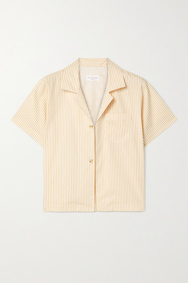STILL HERE Havana Striped Cotton-poplin Shirt