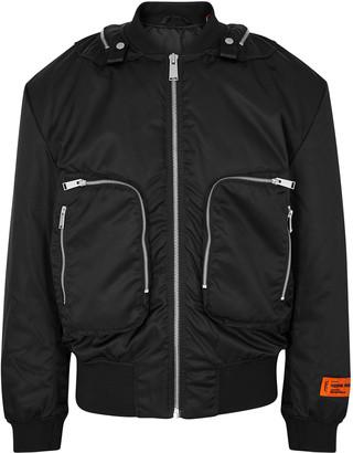 Heron Preston Parachute black nylon bomber jacket