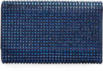 Judith Leiber Fizzoni Bling Clutch Bag with Crossbody Strap