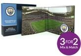 Manchester City Man City Fc Stadium Image Leather Wallet