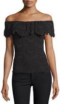 Nightcap Clothing Positano Off-the-Shoulder Lace Top, Black