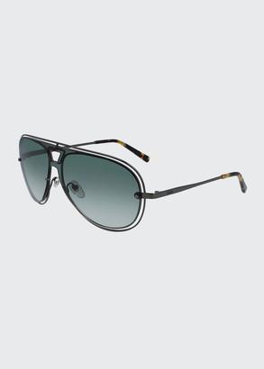 MCM Men's Outline Oversize Aviator Sunglasses