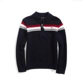 Tommy Hilfiger Stripe Mockneck Sweater