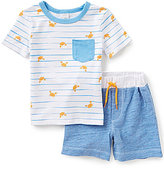Starting Out Baby Boys 12-24 Months Crab Print Short-Sleeve Tee & Shorts Set