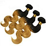 Eecamail 7A Brazilian Virgin Remy Human Hair Extension Weave 5 Bundles 500g Two-Tone Color 1B/27 Ombre Body Wave 28 28 28 28 28inch