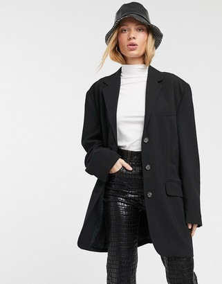 Weekday Shary oversized blazer with lightly padded shoulders in black