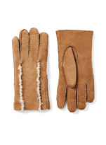 Shearling Gloves In Chestnut