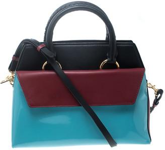 Diane von Furstenberg Multicolor Leather Small Front Flap Satchel