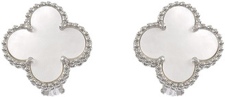 Van Cleef & Arpels Alhambra Silver White gold Earrings