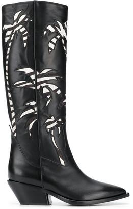A.F.Vandevorst palm tree patterned boots