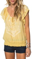 O'Neill Women's Anya Embroidered Top