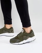 Nike Huarache Run Sneakers In Green 318429-306