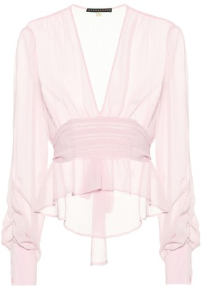 ALEXACHUNG Crepe blouse