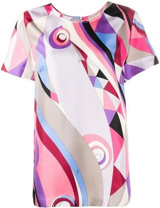 Emilio Pucci Occhi-print silk T-shirt