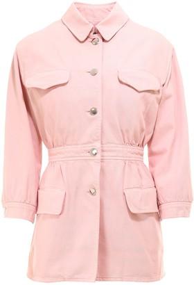 Prada Gathered Button-Up Jacket