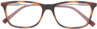 Salvatore Ferragamo Clear Lens Wayfarer Glasses
