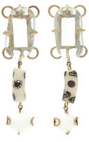 Rosie Assoulin White Glass Drop Earrings